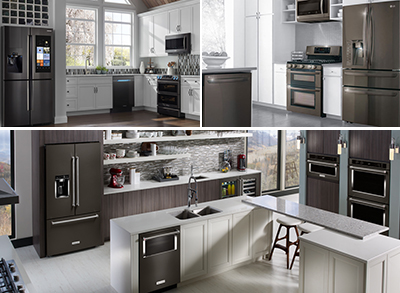 Black Stainless Steel Kitchen Appliances